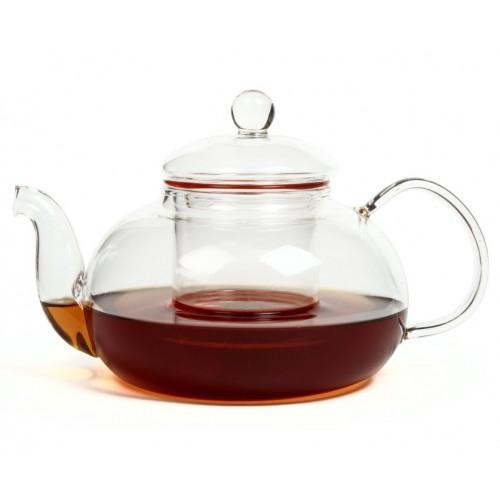 """Чайник из жаропрочного стекла с заварочной колбой """"Смородина"""" (900 мл)"""