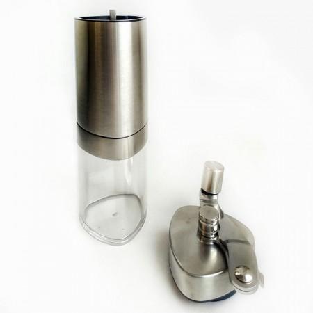 Кофемолка ручная со складной ручкой и стеклянной колбой для кофе