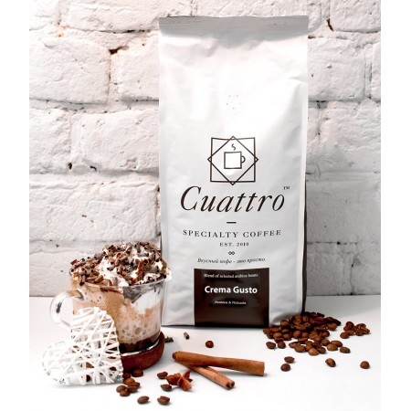 Кофе CUATTRO Crema Gusto