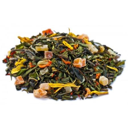 Купаж зеленого и белого чая Бенгальский Тигр 100 г