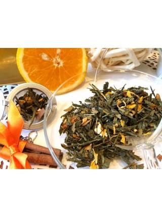 Чай зеленый Имбирный апельсин 100 г