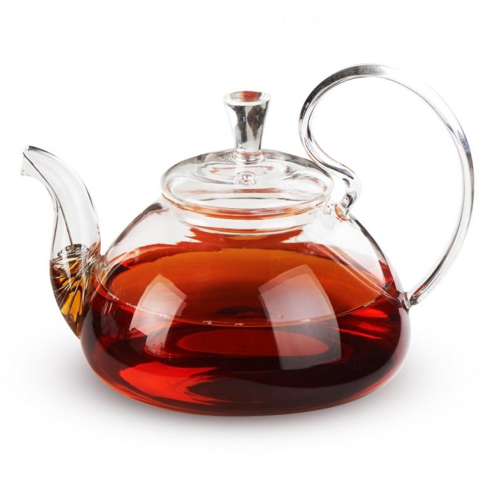 """Чайник из жаропрочного стекла """"Клюква"""" (800 мл)"""