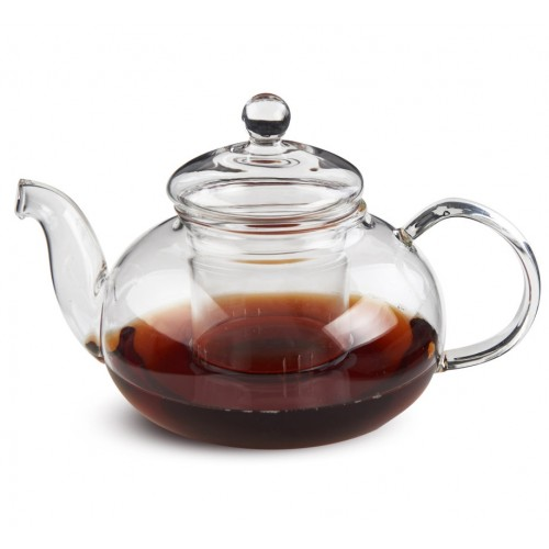 """Чайник из жаропрочного стекла с заварочной колбой """"Смородина"""" (600 мл)"""