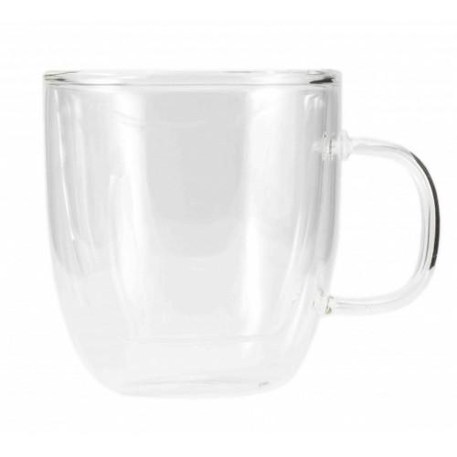 """Необжигающая чашка-термос """"Глициния"""" из жаропрочного стекла (250 мл)"""