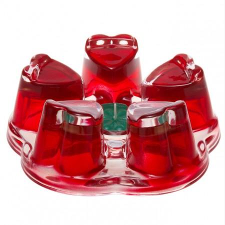 "Подставка-подогреватель для чайника ""Агава"" красная, диаметр 110мм."