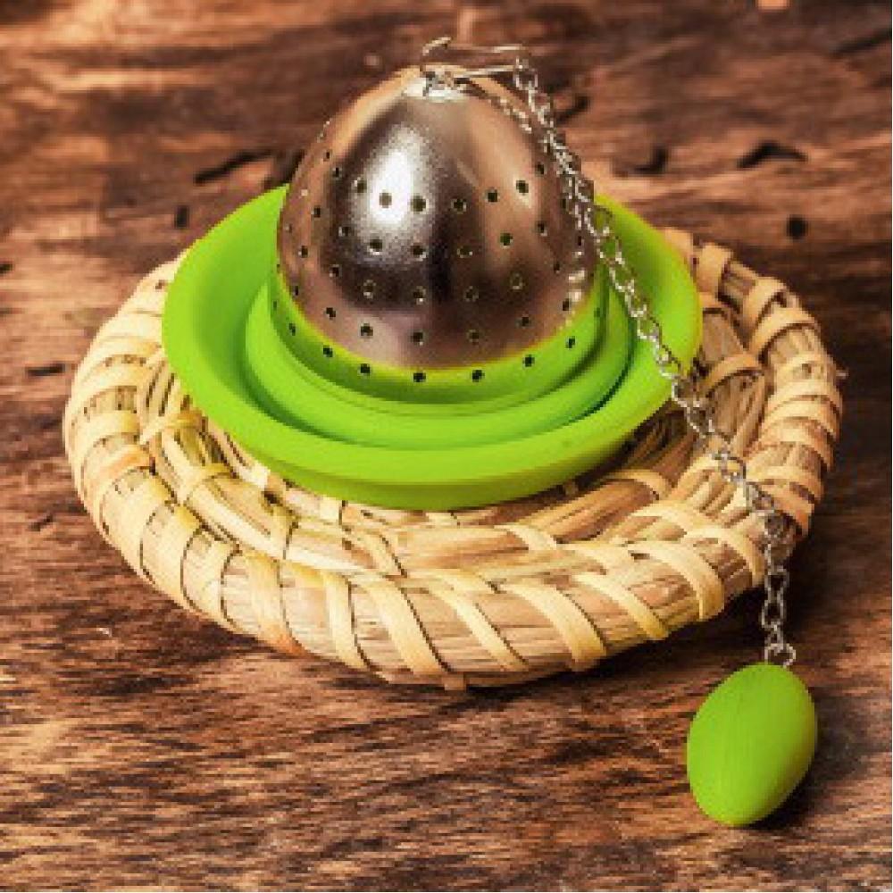 """Сито для чая """"Колокол"""" (цвет: зеленый)"""