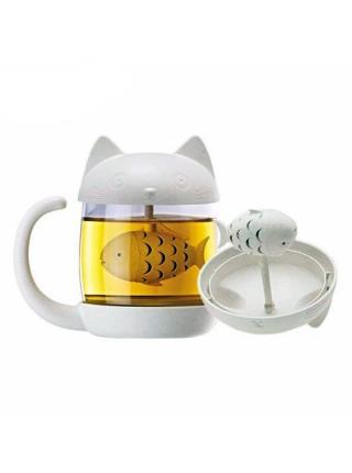 "Стакан для заваривания чая ""Kittens fish"" (250 мл)"