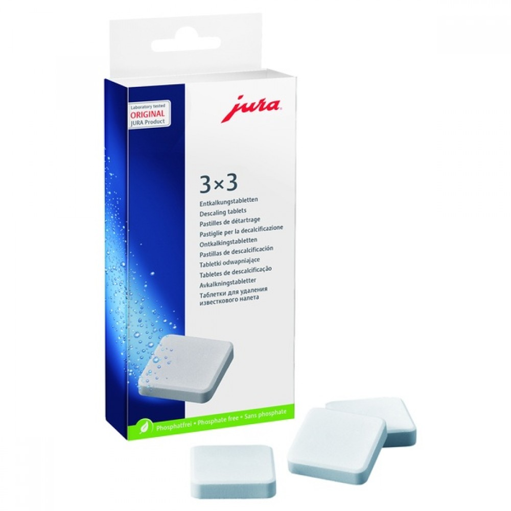 Таблетки для 2-фазового для удаления известковых отложений солей Jura
