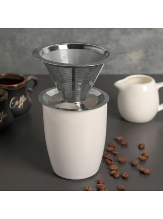 Воронка -дриппер V60, сталь для заваривания кофе «Пуровер»