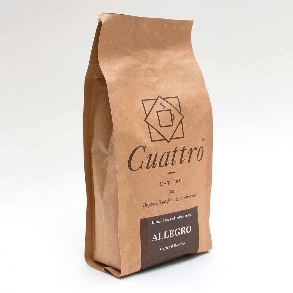 Кофе в зернах CUATTRO Allegro