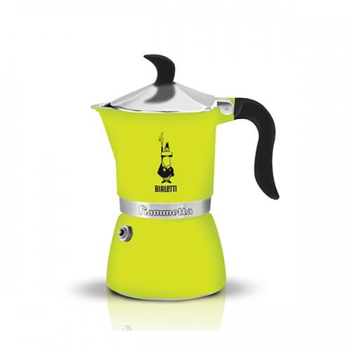 Гейзерная кофеварка Bialetti FIAMMETTA, лайм флуоресцентная, 3 порции, Арт. 4792