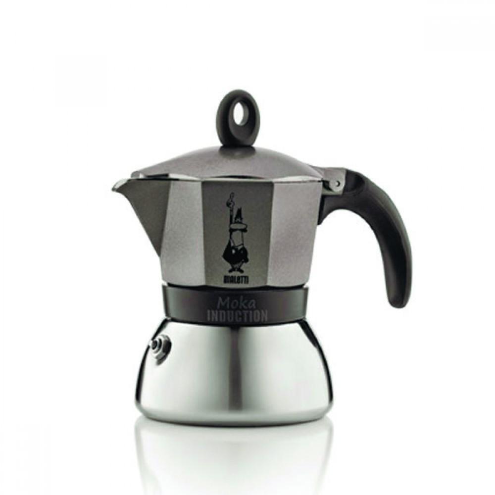 Гейзерная кофеварка Bialetti Moka Induction, антрацит, 3 порции, Арт. 4822