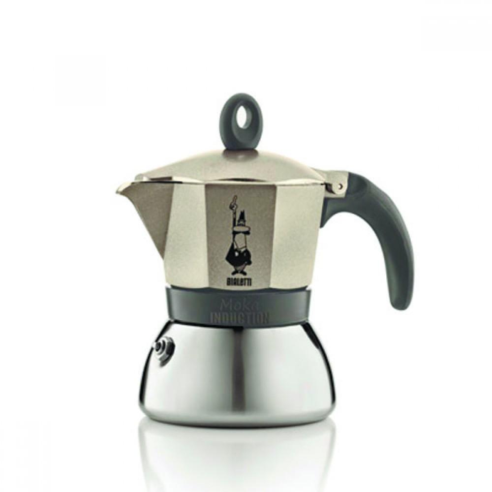Гейзерная кофеварка Bialetti Moka Induction, золотистая, 3 порции, Арт. 4832