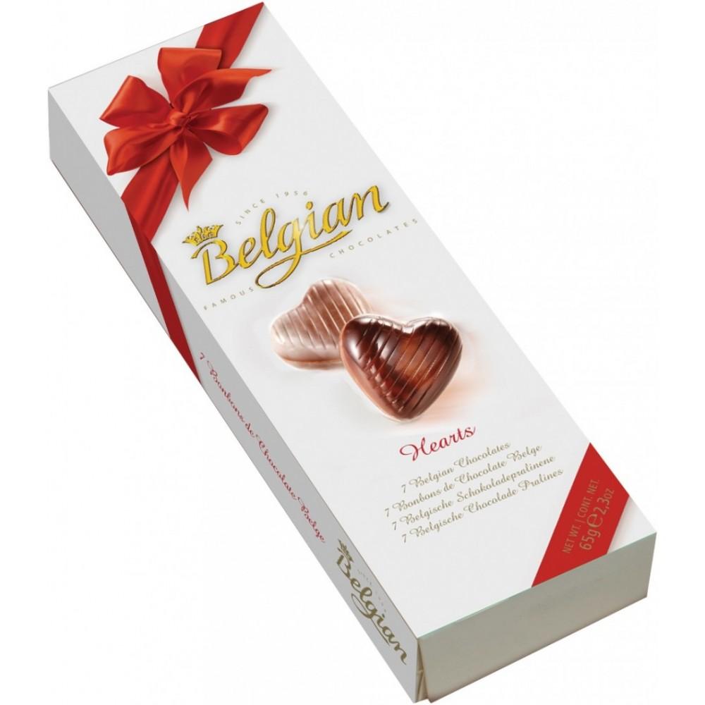 Шоколад The Belgian Сердечки (Chocolate Hearts) 65 г