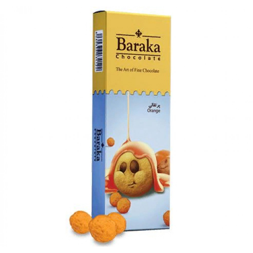 Бисквитные шарики в молочном шоколаде с апельсиновым вкусом 100 гр.