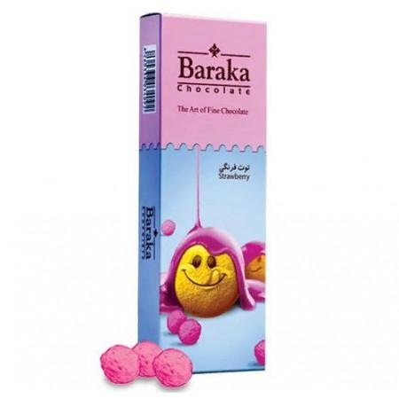 Бисквитные шарики Baraka в молочном шоколаде с клубничным вкусом 100 гр.