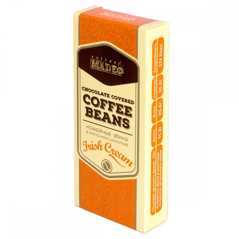 Кофейные зерна в молочном шоколаде, Irish Cream, 25 г