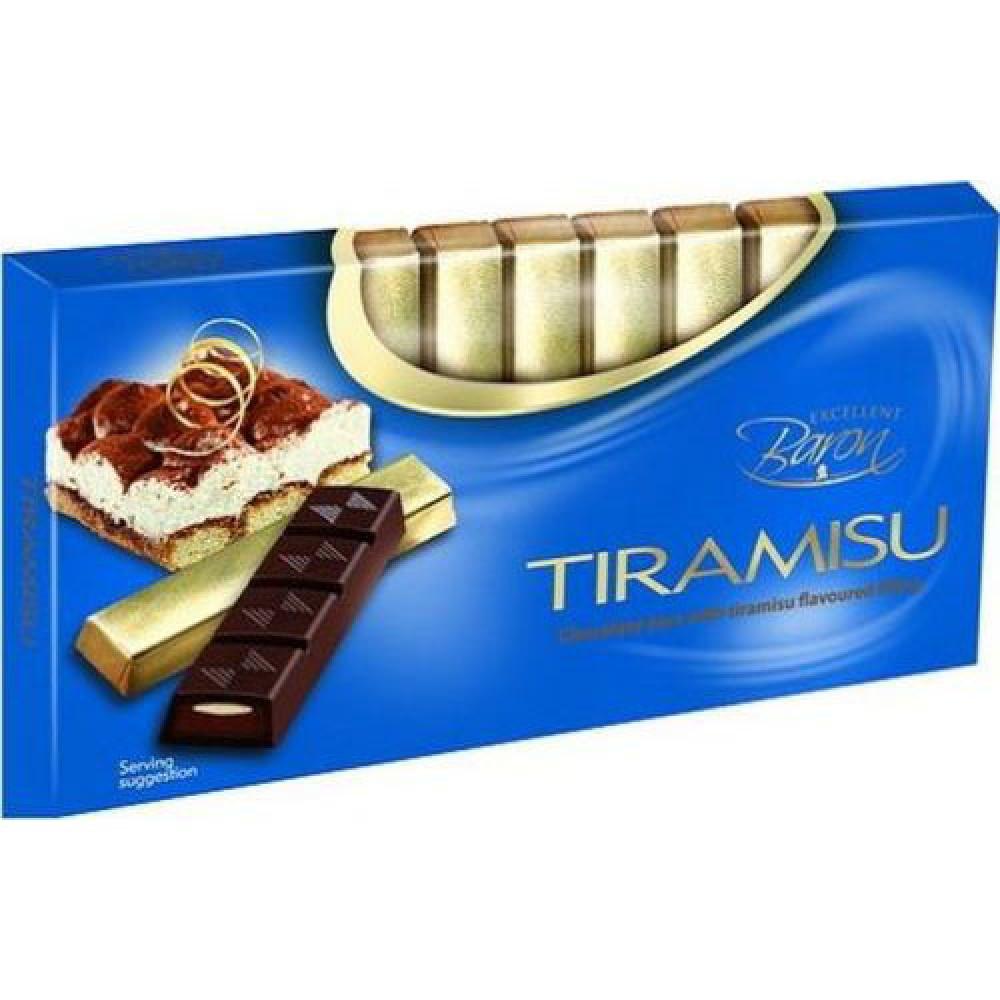 """Шоколад Baron """"Тирамису"""" темный шоколад с начинкой, 100 г"""