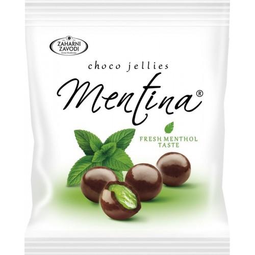 Мармеладно-ментоловые шарики в темном шоколаде Mentina (Zaharni Zavodi), 80 г