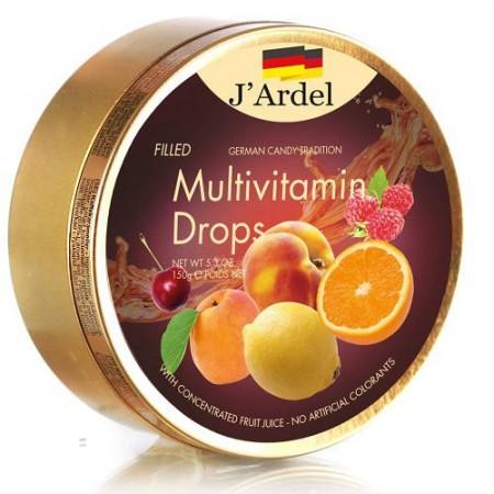 Леденцы J'Ardel Мультивитамин с фруктовой начинкой 150 гр
