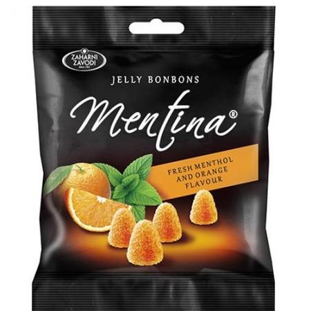Мармелад жевательный со вкусом апельсина и ментола Mentina 90г