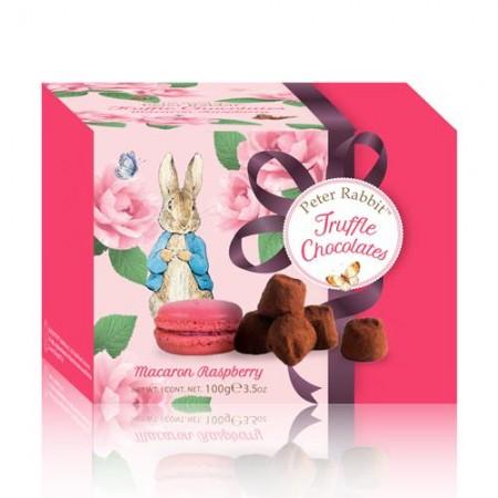 Французские трюфели Peter Rabbit с печеньем Macaron с малиной 100г