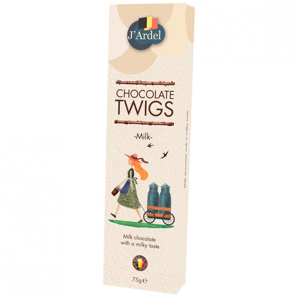 Хворост из молочного шоколада J'Ardel Milk Chocolate Twigs, 75г