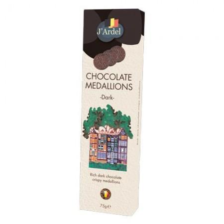 Медальоны хрустящие J'Ardel из горького шоколада с воздушным рисом 75г