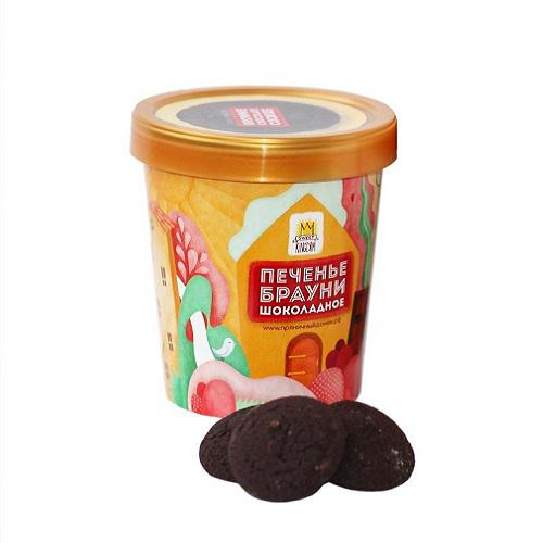 Стаканчик SOFI с печеньем Брауни шоколадное с арахисом, 120 г