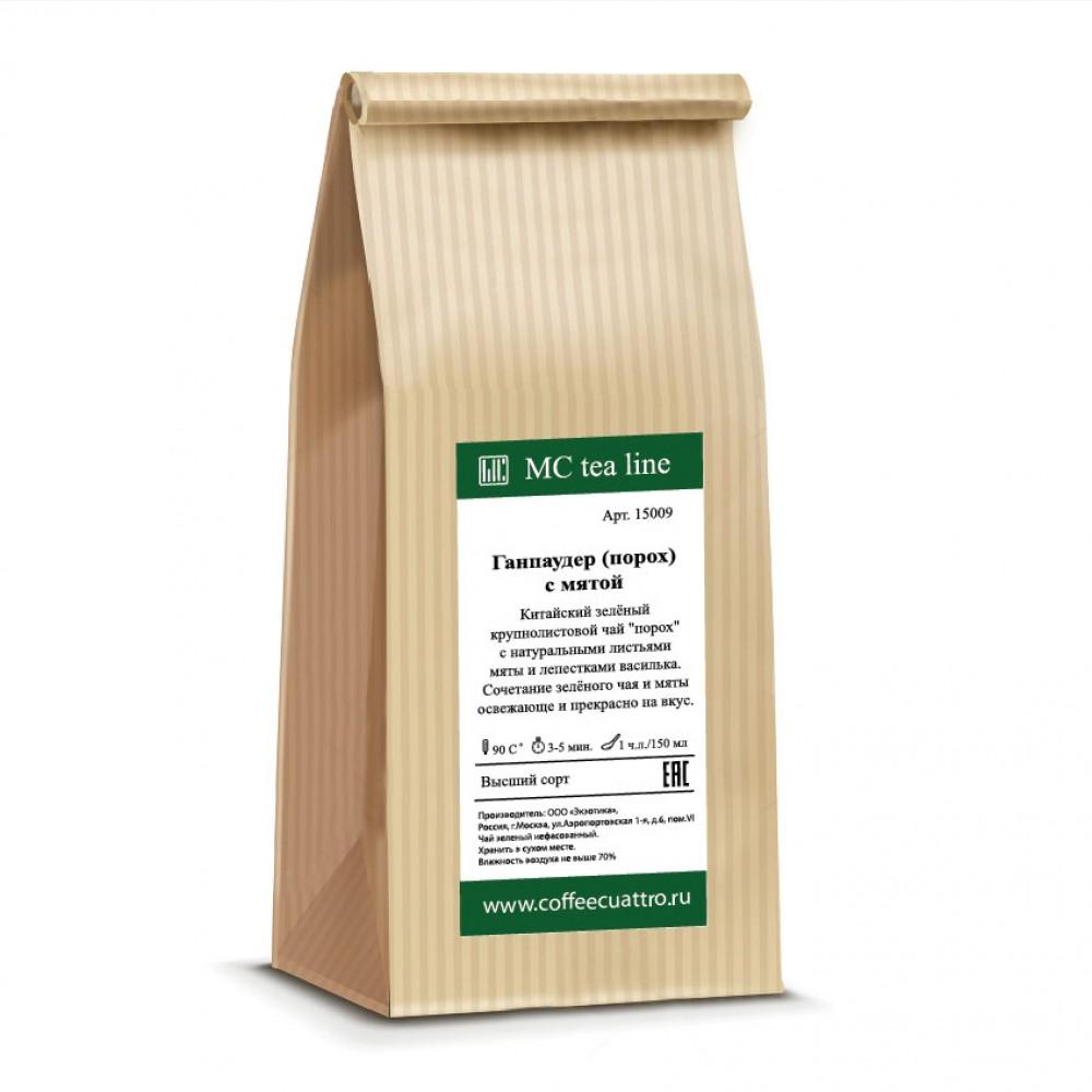 Чай ароматизированный Зеленый чай с мятой (ганпаудер)