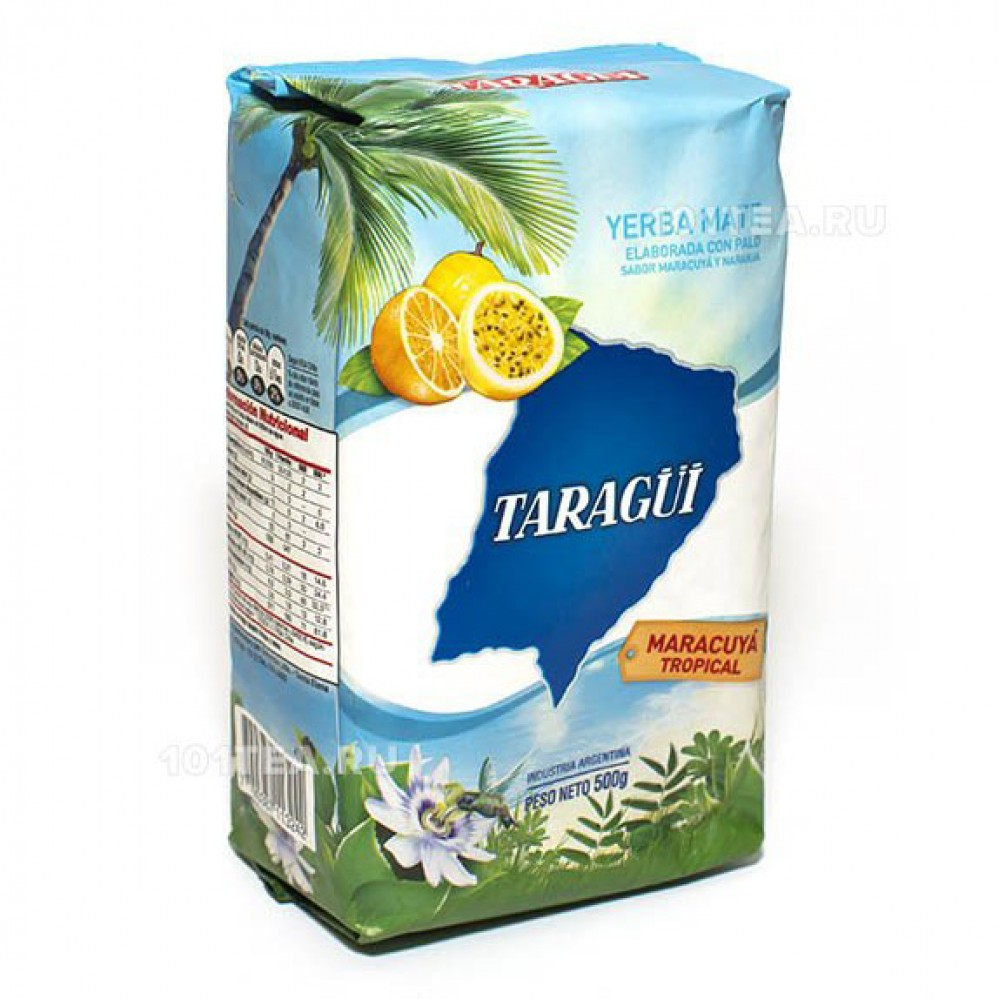 Taragui Maracuya Tropical с ароматом маракуйи и апельсина, 500 гр.