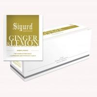 Чай Sigurd зелёный Имбирь и лимон (30 пакетиков по 2 гр)
