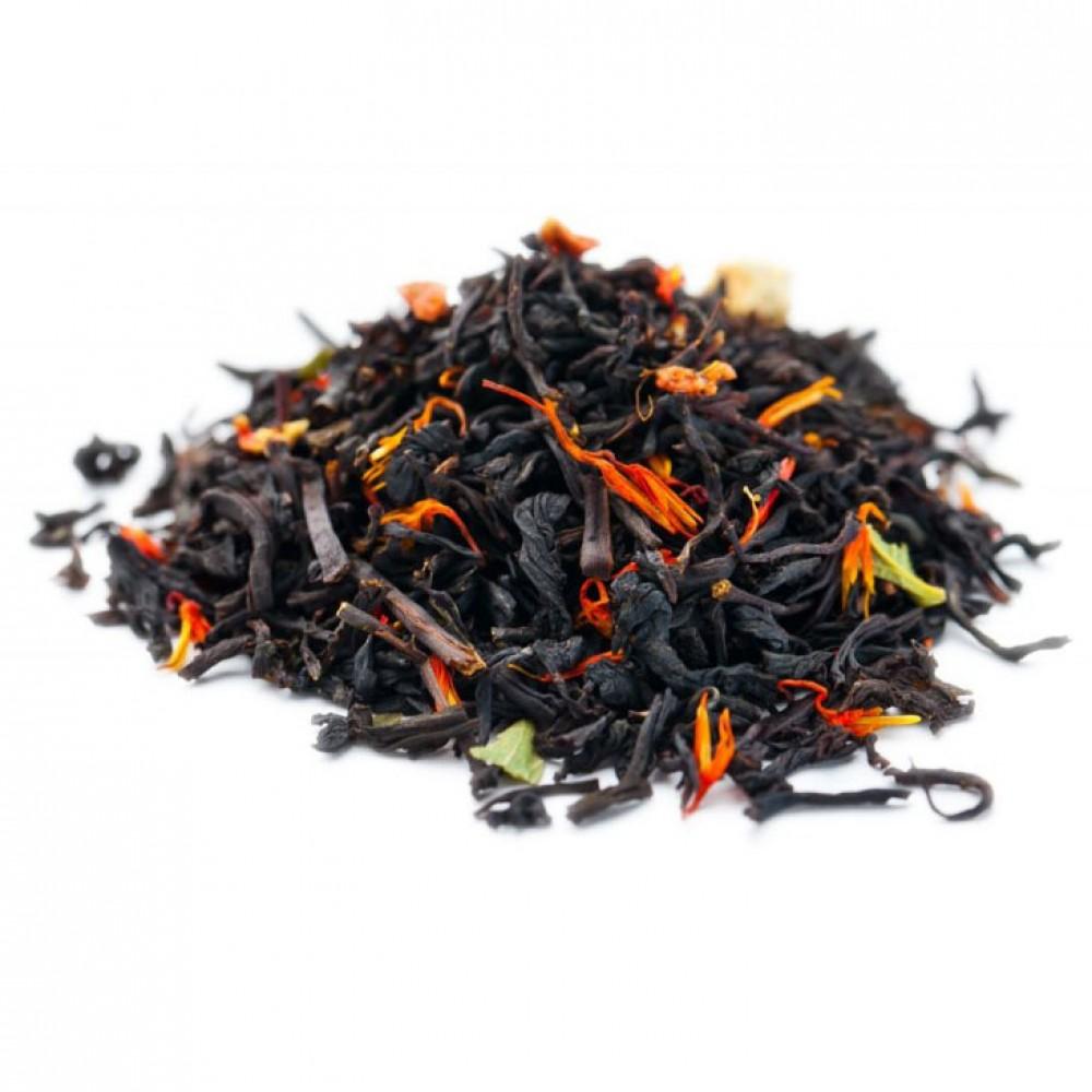 Чай черный ароматизированный Клубничный десерт 100 г