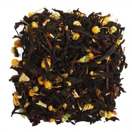 """Купаж черного чая с цветками липы и ромашки """"Липовый мед"""" 100 г"""